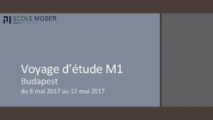 Voyage dtude M 1 Budapest du 8 mai