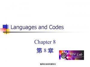 Languages and Codes Chapter 8 8 Disjunctive Languages