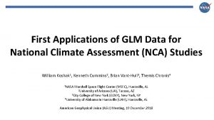 First Applications of GLM Data for National Climate