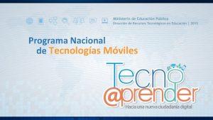 Programa Nacional de Tecnologas Mviles Formacin docente nuestro