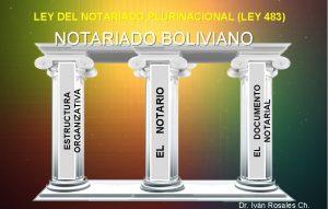 LEY DEL NOTARIADO PLURINACIONAL LEY 483 EL DOCUMENTO