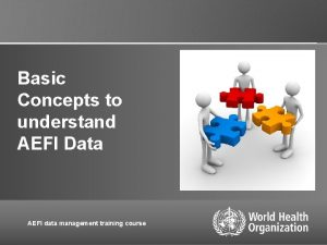 Basic Concepts to understand AEFI Data AEFI data