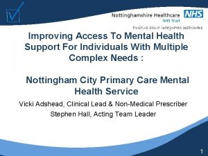 Improving Access To Mental Health Support For Individuals
