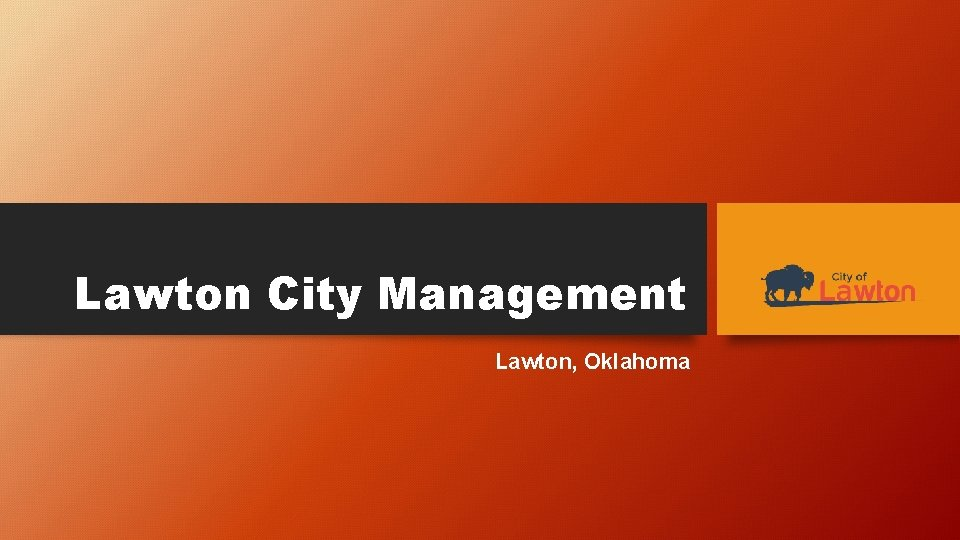 Lawton City Management Lawton Oklahoma CITY MANAGER Official