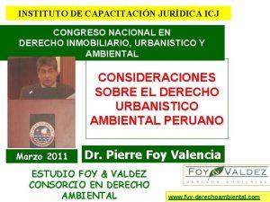 INSTITUTO DE CAPACITACIN JURDICA ICJ CONGRESO NACIONAL EN