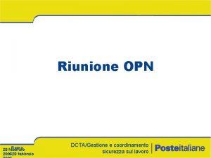 Riunione OPN Roma 28 febbraio 200628 febbraio DCTAGestione