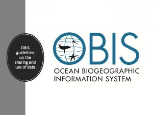 OBIS guidelines on the sharing and use of