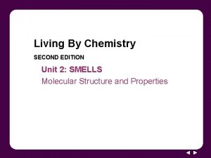 Living By Chemistry SECOND EDITION Unit 2 SMELLS