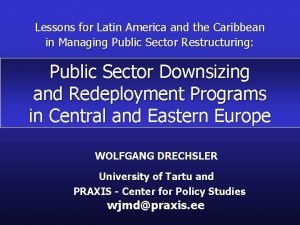 Lessons for Latin America and the Caribbean in