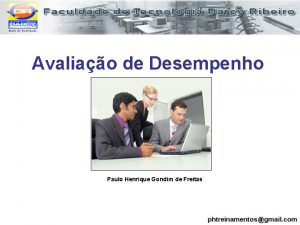 Avaliao de Desempenho Paulo Henrique Gondim de Freitas