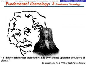 10282020 Chris Pearson Fundamental Cosmology 3 Newtonian Cosmology