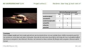 NU BURGERSCHAP 34 Project online 2 Reclame daar
