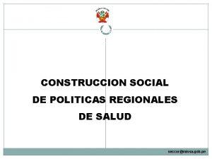 MINISTERIO DE SALUD CONSEJO NACIONAL DE SALUD Secretaria