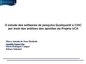 O estudo dos softwares de pesquisa Qualiquanti e