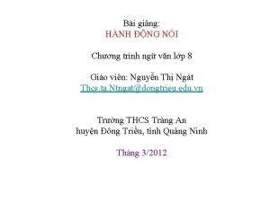 Bi ging HNH NG NI Chng trnh ng