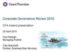 Corporate Governance Review 2010 CFA Ireland presentation 20