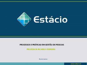 PROCESSOS E PRTICAS EM GESTO DE PESSOAS PROFESSOR
