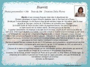 Biarritz Photos personnelles Net Texte du Net Crations