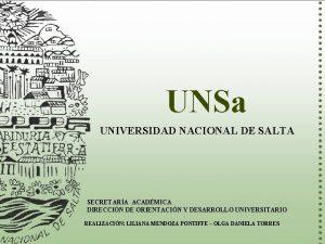 UNSa UNIVERSIDAD NACIONAL DE SALTA SECRETARA ACADMICA DIRECCIN