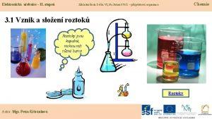 Elektronick uebnice II stupe Chemie Zkladn kola Dn