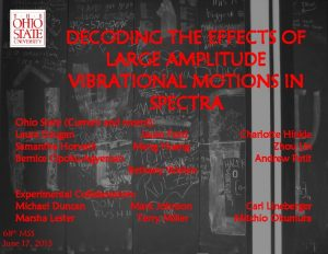DECODING THE EFFECTS OF LARGE AMPLITUDE VIBRATIONAL MOTIONS