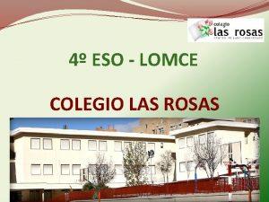 4 ESO LOMCE COLEGIO LAS ROSAS NOVEDADES DE