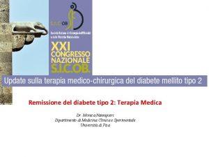 Remissione del diabete tipo 2 Terapia Medica Dr