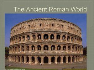 The Ancient Roman World Greek and Roman Religion