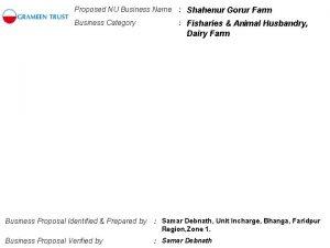 Proposed NU Business Name Shahenur Gorur Farm Business