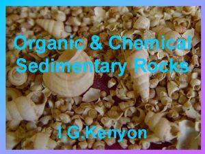 Organic Chemical Sedimentary Rocks I G Kenyon Organic
