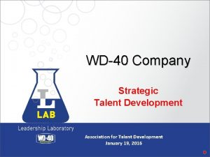 WD40 Company Strategic Talent Development Association for Talent