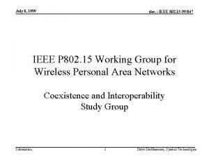 July 8 1999 doc IEEE 802 15 99047