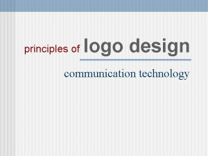 principles of logo design communication technology principles of