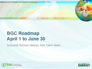 BGC Roadmap April 1 to June 30 Susannah