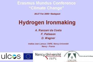 Erasmus Mundus Conference Climate Change 26 27 Fev
