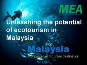 Unleashing the potential of ecotourism in Malaysia A