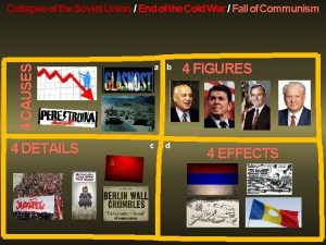 4 CAUSES Collapse of the Soviet Union End