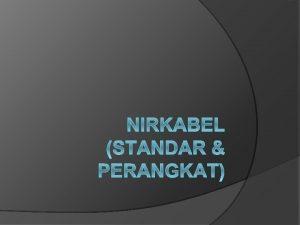 Jaringan Lokal Nirkabel WLAN Jaringan komputer dimana media
