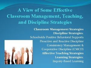 A View of Some Effective Classroom Management Teaching