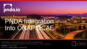 PNDA Integration Into ONAP DCAE Platform for Network