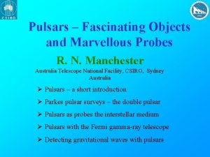 Pulsars Fascinating Objects and Marvellous Probes R N