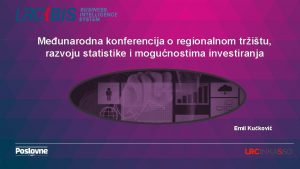 Meunarodna konferencija o regionalnom tritu razvoju statistike i