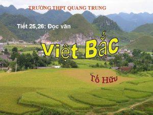 TRNG THPT QUANG TRUNG Tit 25 26 c