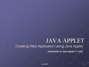 JAVA APPLET Creating Web Application using Java Applet