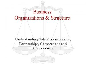 Business Organizations Structure Understanding Sole Proprietorships Partnerships Corporations