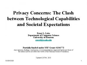 Privacy Concerns The Clash between Technological Capabilities and
