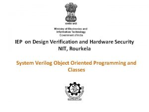 IEP on Design Verification and Hardware Security NIT