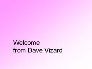 Welcome from Dave Vizard Email Dave on davebehaviourmatters