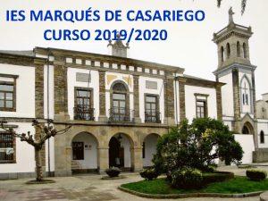 IES MARQUS DE CASARIEGO CURSO 20192020 CALENDARIO ESCOLAR