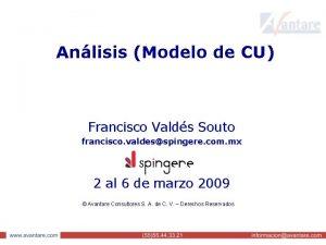 Anlisis Modelo de CU Francisco Valds Souto francisco